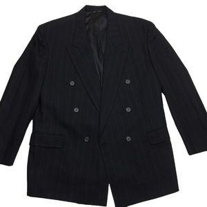 Hugo Boss Striped Double Breasted Blazer Jacket 44